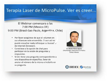 Terapia Laser de MicroPulse. Ver para creer..